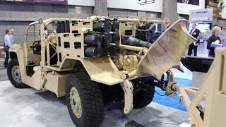 Boeing Phantom Badger combat support vehicle in 120mm mortar carrier version at AUSA 2014
