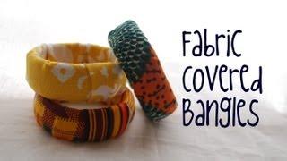 getlinkyoutube.com-How to make a fabric covered bangle