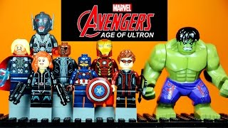 getlinkyoutube.com-2015 Avengers Age of Ultron LEGO KnockOff Minifigures Set 1 with Iron Man & Captain America