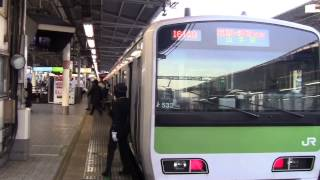 getlinkyoutube.com-【山手線】内回り上野入線発車 女性車掌発車ベル お客様ご案内