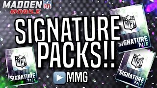 Signature Pack Opening! Madden Mobile 16
