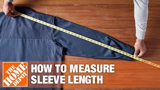 A video details how to measure sleeve length of work shirts.