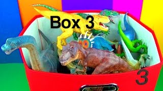 getlinkyoutube.com-DINOSAUR Box 3 TOY COLLECTION Jurassic World T rex Spinosaurus Toy Review  SuperFunReviews