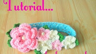 getlinkyoutube.com-Crochet : Diadema tejida para bebe.