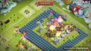 getlinkyoutube.com-Castle Clash - HBM AA - Wave 3 on First Attempt