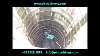 getlinkyoutube.com-1 Ton Yanmar B05 Super Mini Excavator Hoisted Into 30M Deep Manhole Doing Excavation Singapore