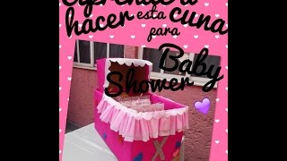 getlinkyoutube.com-¡CUNA PARA REGALOS DE BABY SHOWER!♥ FACIL; DIY.