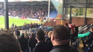 getlinkyoutube.com-Bury v Millwall hooligans fighting on pitch 23/04/16