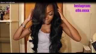 getlinkyoutube.com-Aliexpress Iwish Hair Brazilian Body Wave Install Update