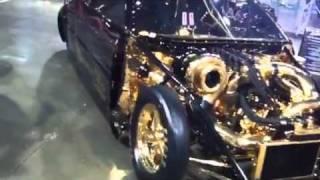 getlinkyoutube.com-23ct Gold 2006 M3 BMW CLS Drag car & Bike