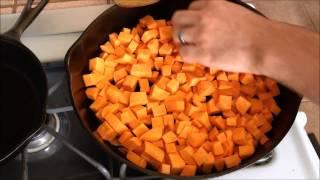 getlinkyoutube.com-Cast Iron Skillet Fried Sweet Potato Snack