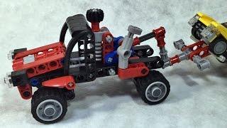 getlinkyoutube.com-Decool 미니 견인차 트럭 렉카 레고 테크닉 짝퉁 조립 리뷰 Lego knockoff Technic 8065 Mini pick-up truck King Steerer