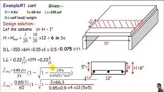 RCD:- One way slab design / design of a one way RC slab.