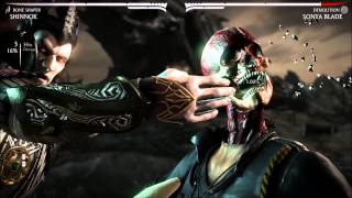 getlinkyoutube.com-Mortal Kombat X: All X-Ray On Sonya Blade