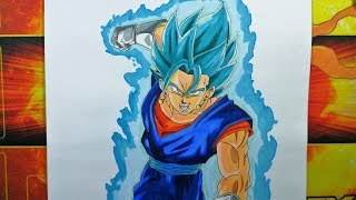 getlinkyoutube.com-Drawing Vegetto Super Saiyan Blue - Dragon Ball Super