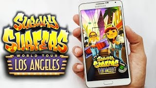 getlinkyoutube.com-Subway Surfers Los Angeles Gameplay Unlimited Coins & Keys Android & iOS HD