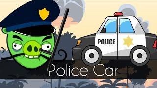 getlinkyoutube.com-Bad Piggies - POLICE CAR (Field of Dreams) - Request