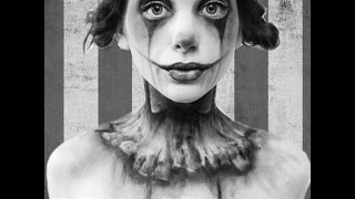 Sad Clown Transformation   Halloween 2014