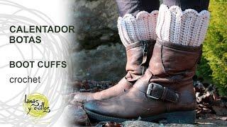 getlinkyoutube.com-Tutorial Calentadores Botas Crochet o Ganchillo