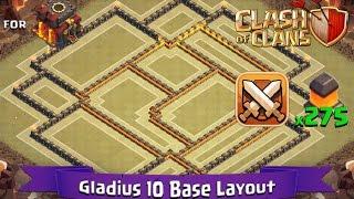 getlinkyoutube.com-Clash Of Clans: TH10 | BEST Clan War Base Layout (275 Walls) - Gladius 10
