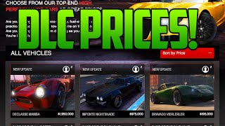 getlinkyoutube.com-GTA 5 Online DLC Price List - NEW CARS, VEHICLES, MANSIONS PRICE ESTIMATIONS! (GTA 5 DLC Update)