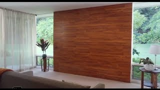 getlinkyoutube.com-Decora una pared con piso laminado