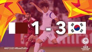 getlinkyoutube.com-QATAR vs KOREA REPUBLIC: AFC U23 Championship 2016 (Semi Final)