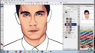 getlinkyoutube.com-Draw Thesamtsui - Vector Vexel Portrait