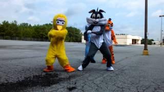 getlinkyoutube.com-Cartoon Characters | Hit The Quan Dance | Dragon House
