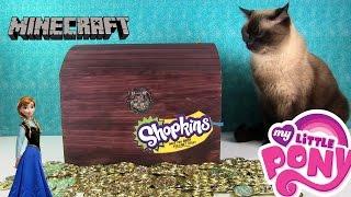 getlinkyoutube.com-Simon's Blind Bag Treasure Chest Shopkins MLP Frozen Funko Disney Unboxing   PSToyReviews