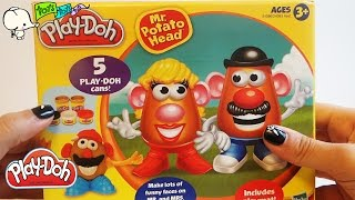getlinkyoutube.com-Let's shape PLAY-DOH Mr & Mrs POTATO HEAD PLAYSET