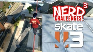 getlinkyoutube.com-Nerd³ Challenges! Break Every Bone! - Skate 3