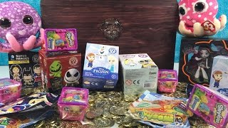 getlinkyoutube.com-Shopkins Frozen Funko MH Beanie Boos MLP Disney Moshi Monsters Blind Bag Treasure Chest Unboxing