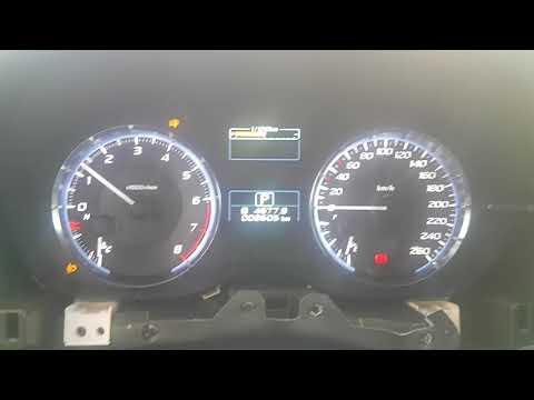 Работающая индикация ручника на приборке Subaru Levorg