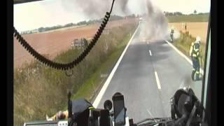 getlinkyoutube.com-Hasiči Kralovice - Požár kamionu s vápnem Vysoká Libyně 10.8.2012
