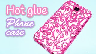 getlinkyoutube.com-DIY crafts: HOT GLUE PHONE CASE - Innova Crafts