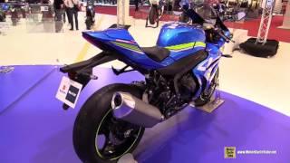 getlinkyoutube.com-2017 Suzuki GSXR 1000   Walkaround   2015 Salon de la Moto Paris