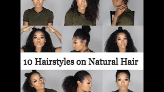 getlinkyoutube.com-10 Quick and Easy Hairstyles on Natural Hair - 3B/3C