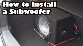 getlinkyoutube.com-How to Install a Subwoofer and Amplifier in a car