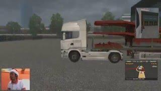 getlinkyoutube.com-Euro Truck  Simulator 2, Com uma carga de prachas rebaixadas, com muito acidentes......