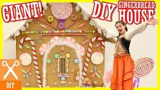 getlinkyoutube.com-DIY GIANT GINGERBREAD HOUSE! WITH HANSEL AND GRETEL SKIT!  |  KITTIESMAMA