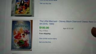 Walt Disney Black Diamond Insanity Fad! Ebay Beauty And The Beast VHS Tapes