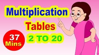 Multiplication Tables For Children 2 to 20 | Learn Numbers For Children | Numbers 2 to 20