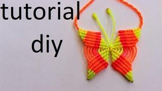 getlinkyoutube.com-como hacer un collar de mariposa en macrame
