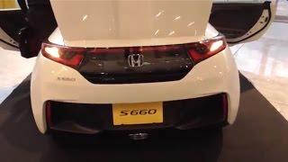 getlinkyoutube.com-HONDA S660 市販モデル 超録って出し映像 その5 ハザードはこう点灯する。なんと助手席側の足元は……。