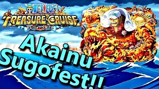 (100 Gems!!) Akainu Sugofest Pulls | One Piece Treasure Cruise