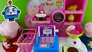 getlinkyoutube.com-Peppa Pig Pastelería Bakery Set - Juguetes de Peppa Pig