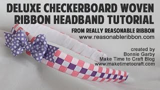 getlinkyoutube.com-Deluxe Checkerboard Woven Ribbon Headband Tutorial with Really Reasonable Ribbon