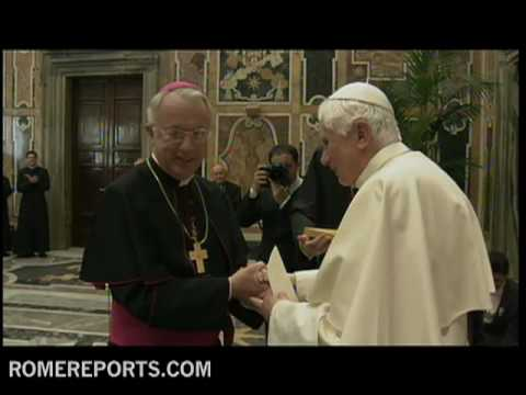 Pope celebrates 83rd Birthday with members of Papal Foundation