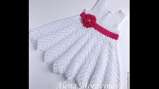 getlinkyoutube.com-Crochet dress| How to crochet an easy shell stitch baby / girl's dress for beginners 7